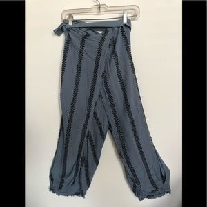 Free people wrap front pants